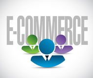 E-commerce team sign illustration design graphic Stock Photography