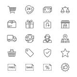 E-commerce thin icons Royalty Free Stock Photo