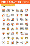 E-commerce thin line flat design web icons collection Royalty Free Stock Images