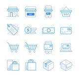 E-Commerce- und Einkaufsikonen stellten 1 ein lizenzfreie abbildung