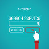 E-commerce vector concept in flat style Stock Photo