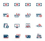 E-commerce color icon set. E-commerce vector icons for web and user interface design royalty free illustration