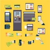 E-commerce Vector Illustration Set Stock Images