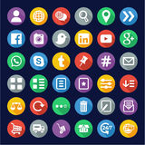 E Commerce or Web Shop Icons Flat Design Circle Royalty Free Stock Images