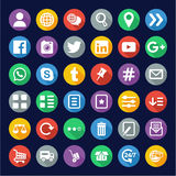 E Commerce or Web Shop Icons Flat Design Circle Royalty Free Stock Photos