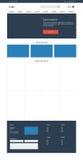 E-commerce website template. Online store Stock Photo