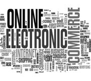 E-commerce word cloud royalty free stock image
