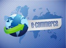 E commerce. world map illustration design Royalty Free Stock Photography