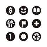 E-commercesymboler Arkivfoton