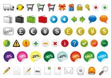 E-commercesymboler Arkivbilder