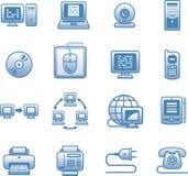 E-communications  icon set Stock Photos