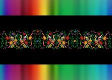 E Composition florale colorée avec des oiseaux, paon illustration stock