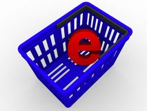 E - compra ilustração do vetor