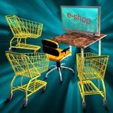 E-compra o conceito Fotos de Stock