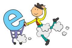 E-compras Imagen de archivo libre de regalías