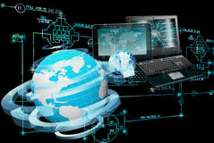 E-computer engineering technology. Royalty Free Stock Images