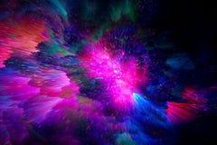 E Concept cosmique images stock