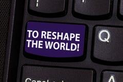 E Concept d'affaires pour Give la terre clé de clavier d'occasions de nouvelles perspectives images libres de droits