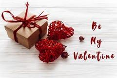 E Concept de Saint Valentin métier élégant Photo stock