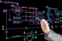 E-connection engineering technology. Stock Image