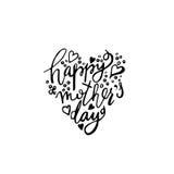 E Coração feliz do dia de mães dado forma Foto de Stock Royalty Free