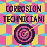 E Couleur de systèmes de contrôle de photo de corrosion conceptuelle d'installation et de maintien illustration stock
