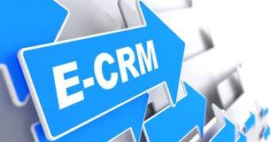 E-CRM.信息技术概念。 图库摄影