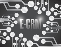 E crm circuit electronic board illustration design Royalty Free Stock Image