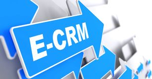 E-CRM. Information Technology Concept. Stock Photography