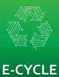 E-Cycle  electronics recycling Royalty Free Stock Photography