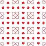 E Día del `s de la tarjeta del día de San Valentín Abstracción stock de ilustración