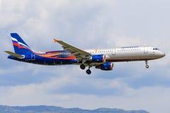 ` E d'Airbus A321 ` VP-BTL Aeroflot de Vakhtangov Image libre de droits