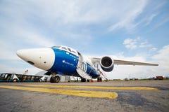 AN-148-100E dans l'aéroport Domodedovo Images libres de droits