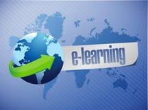 E, das Kugelkonzept-Illustrationsdesign lernt Lizenzfreies Stockbild