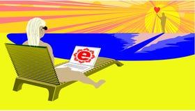 E-datación en línea Imagen de archivo libre de regalías