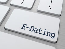 E-Dating on Keyboard Button. Royalty Free Stock Images