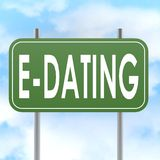 E dating road sign Royalty Free Stock Image