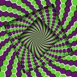 E De Achtergrond van de optische illusie vector illustratie
