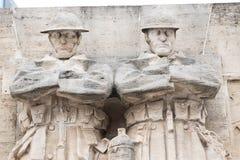 E 02 19: De Britse Militairen van het Oorlogs herdenkingsmonument in Brussel op plaats Poelaert royalty-vrije stock foto's