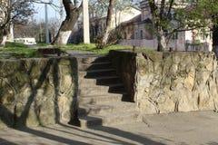 E De stappen van de steen royalty-vrije stock afbeelding