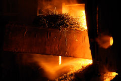 E de uma vida velha do metal Imagem de Stock