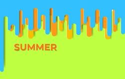 E De zomer van het illustratiemalplaatje royalty-vrije illustratie