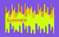 E De zomer van het illustratiemalplaatje vector illustratie