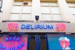 E 02 19: Deliriumkoffie in Brussel royalty-vrije stock foto's