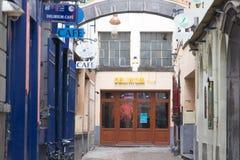 E 02 19: Deliriumkoffie in Brussel stock afbeelding