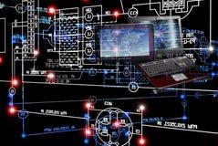 E-designing engineering technology. Stock Photo