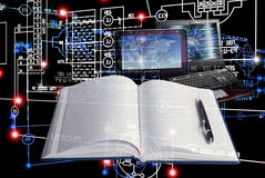 E-designing engineering technology. Stock Images