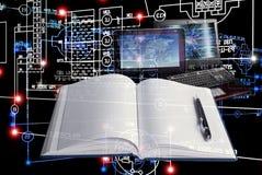 E-designing engineering technology. Stock Images