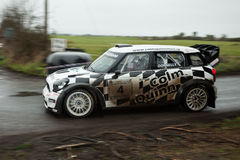 E.Donnelly driving MINI Cooper WRC Royalty Free Stock Photography