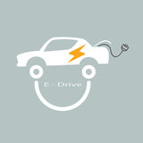 E drive car of smile concept Stock Images